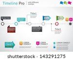 timeline pro   different... | Shutterstock .eps vector #143291275