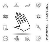 hand of human outline icon....   Shutterstock . vector #1432912832