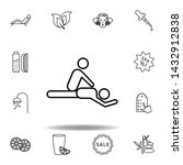 massage and spa outline icon....
