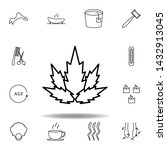 plant for spa outline icon....