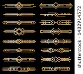 art deco dividers. gold deco... | Shutterstock .eps vector #1432914572