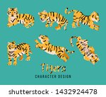 Cute Fat Tiger Sticker Pack....