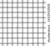 checkered hand drawn vector... | Shutterstock .eps vector #1432933505