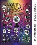 esoteric shop doodles... | Shutterstock .eps vector #1432945592