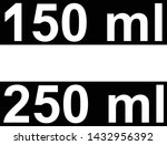 two labels 150 ml and 250 ml... | Shutterstock .eps vector #1432956392