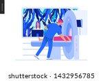 medical tests blue illustration ... | Shutterstock .eps vector #1432956785