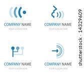 set of communication logos   Shutterstock .eps vector #14329609