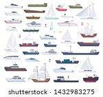 Ocean Ships. Yacht Sailing...
