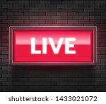 live light broadcast sign. tv...   Shutterstock .eps vector #1433021072
