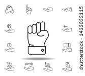 hand  knuckle outline icon. set ... | Shutterstock .eps vector #1433032115