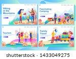 web landing page design...   Shutterstock .eps vector #1433049275
