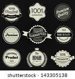 set of retro vintage label ... | Shutterstock .eps vector #143305138