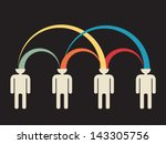 mutual peer to peer idea... | Shutterstock .eps vector #143305756