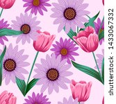 floral seamless pattern with... | Shutterstock . vector #1433067332