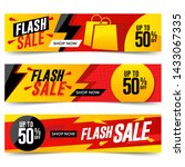 flash sale banners template... | Shutterstock . vector #1433067335