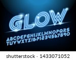 a glowing neon style alphabet... | Shutterstock .eps vector #1433071052