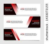 vector abstract design banner... | Shutterstock .eps vector #1433073155