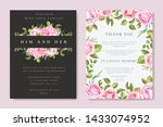 beautiful wedding and...   Shutterstock .eps vector #1433074952