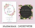 beautiful wedding and...   Shutterstock .eps vector #1433074958
