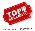 red vector banner top seller | Shutterstock .eps vector #1433078018