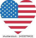 heart shape 4th of july happy... | Shutterstock .eps vector #1433078432