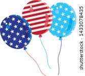 balloons stars icon 4th of july ... | Shutterstock .eps vector #1433078435