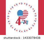 4th of july happy independence... | Shutterstock .eps vector #1433078438