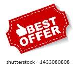 red vector illustration banner... | Shutterstock .eps vector #1433080808