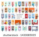 business people working... | Shutterstock .eps vector #1433085035
