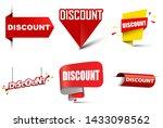 illustration set vector banners ... | Shutterstock .eps vector #1433098562