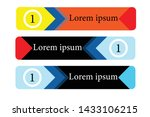abstract banners with various... | Shutterstock .eps vector #1433106215