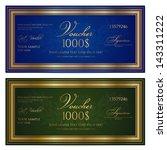 gift certificate   voucher  ... | Shutterstock .eps vector #143311222
