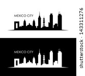 Mexico City skyline - vector illustration
