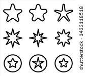 set of star icon. black rating...