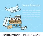 cute banner with hand drawn... | Shutterstock .eps vector #1433119628