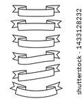 set of ribbons banner  outline...   Shutterstock .eps vector #1433128232