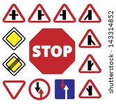 elegant traffic signs set... | Shutterstock .eps vector #143314852