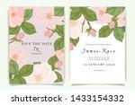 wedding invitation  floral...   Shutterstock .eps vector #1433154332
