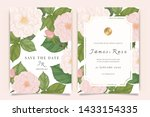 wedding invitation  floral... | Shutterstock .eps vector #1433154335