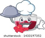 chef with food hibiscus tea is... | Shutterstock .eps vector #1433197352