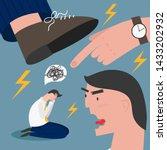 boss pressure employee  tired ... | Shutterstock .eps vector #1433202932