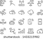 set of 5g icons  such as wifi ... | Shutterstock .eps vector #1433215982