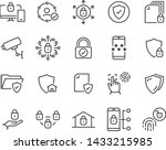 set of security line icons ... | Shutterstock .eps vector #1433215985