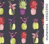pineapple patterns with... | Shutterstock .eps vector #1433223542