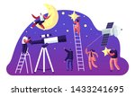 astronomy science  male female... | Shutterstock .eps vector #1433241695