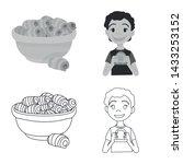 vector design of creamy and... | Shutterstock .eps vector #1433253152