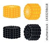 vector design of cornfield and... | Shutterstock .eps vector #1433258618