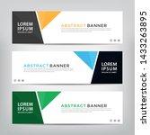 abstract web banner template ...   Shutterstock .eps vector #1433263895