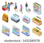 people isometric store.... | Shutterstock .eps vector #1433280578