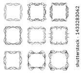 set of vintage frames on white... | Shutterstock . vector #1433283062